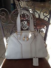 YSL Off White Medium Muse Leather Bag