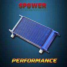 Universal 18 Row AN10 Engine Transmission Oil Cooler Blue Mocal Style