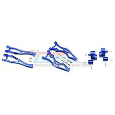 GPM Alum Front Upper&Lower Arms+Front Knuckle Arms Blue : Kraton/Outcast