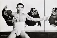 1960's Vintage Japan ASIAN SEMI NUDE MALE Muscle Photo Art 11x14 By TAMOTSU YATO