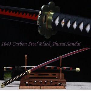 Purple Red High Carbon Steel Blade Real Katana Handmade Full Tang Sharp Sword
