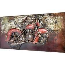 3D Metallbild Chopper Wandbild 140 x 70 cm Metall Bild Motorrad Oldtimer NEU