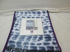 "NEW Lush Decor Fabric Shower Curtain 72""X72 ARNEY TIE DYE ~ Navy Blue and White"