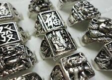 5pcs vintage tibet argent homme anneaux gros lots bijoux nouveau livraison gratuite