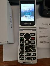 telephone Portable à Clapet Senior Debloqué GSM Double SIM, grosses Touches