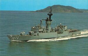 Postcard USS Downes FF-1070 Frigate