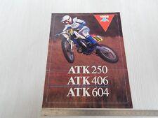 BROCHURE ORIGINALE MOTO ATK 604 406 250 1988 IN INGLESE DEPLIANT PROSPEKT