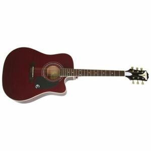 Epiphone PRO-1 Ultra En Wine Red - Guitare Western Avec Capteur / Micro