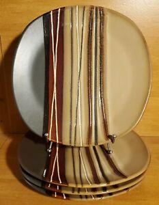 "Better Homes BAZAAR BROWN Dinner plate set(s) of 4, 10 3/4"", Very good"