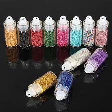Luxury 12 Bottles Nail Art Caviar Balls Glitter Ball Beads Manicure Accessories
