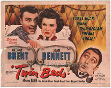TWIN BEDS Movie POSTER 22x28 Half Sheet George Brent Joan Bennet Mischa Auer Una