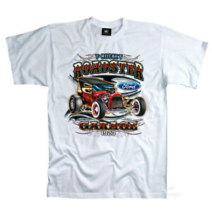 Auto T-Shirt FORD Hot Rod classic Roadster USA Oldtimer Vintage Garage *0190 wh