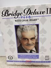 Rare Vintage Bridge Deluxe II with Omar Sharif PC Game Windows 95 Retail box.