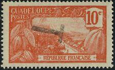 """GUADELOUPE - 1905 - Yv.60/Mi.56 10c surcharge """"T"""" - avec gomme (partielle)"""