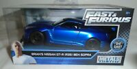 Fast & Furious Brian's Nissan GT-R (R35) Ben Sopra Blue Die-Cast 1:32 Scale