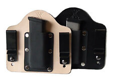 FoxX Holsters Leather & Kydex IWB Magazine Carrier Holster Kahr 9mm & .40cal