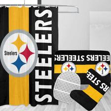 Pittsburgh Steelers 4Pcs/Set Bathroom Shower Curtain Bath Mat Toilet Lid Cover