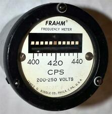 Frahm James G. Biddle Co. Frequency Meter CPS 200-250 Volts Analog Panel Meter