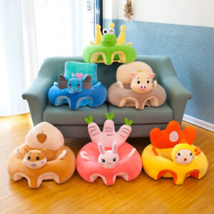Kids Plush Baby Support Seat Sit Up Cushion Pillow Soft Chair Case Cover Only