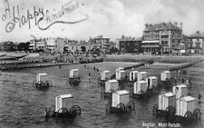 Bognor Regis West Parade Bathing cabins machines pc used 1905 Wood Ref B910