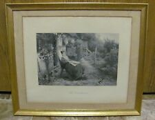 THE CONVALESCENT C. COUSEN  BIRKET FOSTER FRAMED AND MATTED