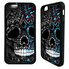 Sugar skull aztec tattoo pattern case cover for iphone 5 6 7 8 plus X XS Max XR
