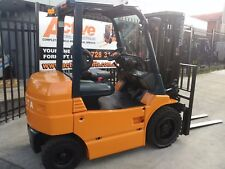 TOYOTA 4 WHEEL ELECTRIC FORKLIFT 7FB 3 TON 4.3M LIFT CONTAINER MAST $23,999+GST