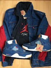 Levi's X Jordan Reversible Truckerjacket Indigo M Neu DS Offwhite Supreme Nike