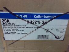 Eaton DH221FGK Safety Switch 30A 2P 240V/250DC HD Fusible NEMA 1 #1B-1262-A12