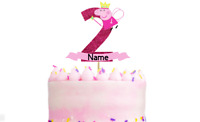 Personalised Peppa Pig Birthday Cake Topper Any Name And Age