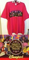 ºoº VTG DISNEYLAND Electric Parade CA Adventure Pink T Shirt  Glitter Logo XL