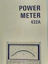 Hewlett Packard HP 432A Power Meter Operation & Service Manual