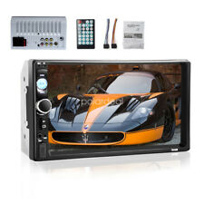 7'' Double 2 Din Bluetooth Car Stereo Touch Screen MP5 AUX/USB/FM Radio Player