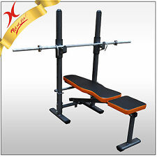 HOME GYM BENCH PRESS & WEIGHT BENCH - EXERCISE FITNESS EQUIPMENT