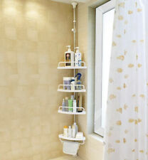 BAOYOUNI 4 Tier Bathroom Corner Shower Caddy Tension Pole Rust Proof Telescopic
