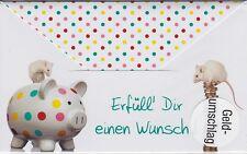 Geldumschlag Zum Geburtstag Glückwunschkarte Grusskarte