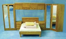 Dolls House Miniature 1/12th Scale Modern Wooden Bedroom Suite DF946
