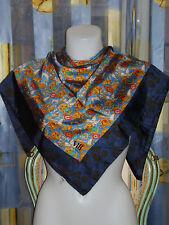 VIII STUDIO (made in Italy) Foulard Vintage Scarf 100% SETA, 100% silk