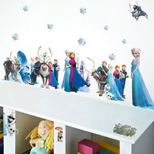 Princess Elsa Wall Stickers 3D Decals Girls Bedroom Art Mural Posters Wallpaper