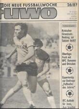 Die neue Fussballwoche-FUWO-DDR 1987...25/87 bis 52/87...25 x Wochenzeitungen