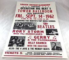 1962 ROCK & ROLL SHOW THE BEATLES RORY STORM GERRY LARGE PAPER CONCERT POSTER