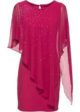 Vestido cóctel talla 32 34 uva chifón-vestido con tachuelas minivestido vestido de noche de fiesta nuevo