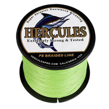 Braided Fishing Line PE 4 Weave 500M Fluorescent Green Hercules 60LB Test 547Yds