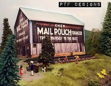 """* O Scale Scratch Built """"TOBACCO BARN"""" Farm Building Front/Flat, MTH Lionel *"""