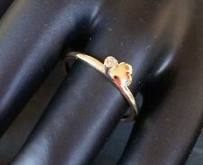 .9ct 9k Yellow Gold Stackable Ring Heart Size P 1/2 Valentines #SundayMarket