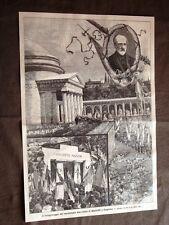 Staglieno nel 1896 Pellegrinaggio dei repubblicani alla Tomba di Mazzini