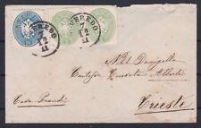 1863 Brief mit  Buntfrankatur Attest 1 Kreuzer ÜBERFRANKIERTE RARITÄT