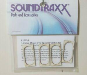 SoundTraxx Part # 678-810138 16mm x 35mm Oval Speaker Gasket Kit Model Railroad