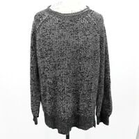 Ellen Tracy Women's Black & W Cable Knit Marled Sweater Size XL