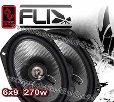 """FLI Underground FU69 6x9"""" 2-way 270w Car Van Door Shelf Coaxial Speakers - Pair"""